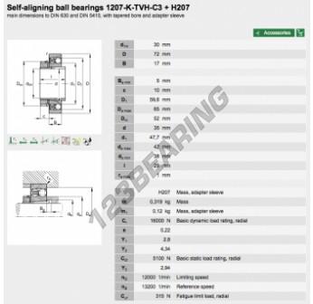 1207-K-TVH-C3-H207-FAG - 30x72x17 mm