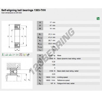 1303-TVH-FAG - 17x47x14 mm