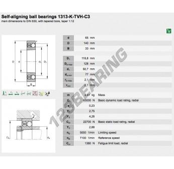 1313-K-TVH-C3-FAG - 65x140x33 mm