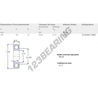 1726203-2RS1-SKF - 17x40x12 mm