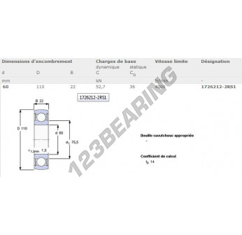 1726212-2RS1-SKF - 60x110x22 mm