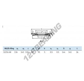 32216-AK-NILOS - 80x143x5 mm