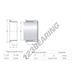 99828-SKF - 44.45x22.23 mm