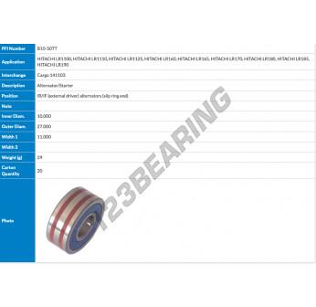 B10-50TT-PFI - 10x27x11 mm