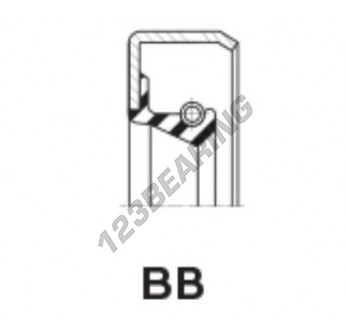 BB-15.87X28.57X6.35-FPM - 15.87x28.57x6.35 mm