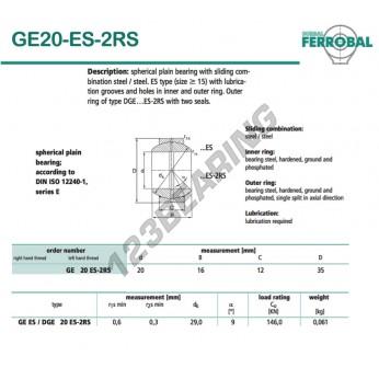 GE20-ES-2RS-DURBAL - 20x35x12 mm
