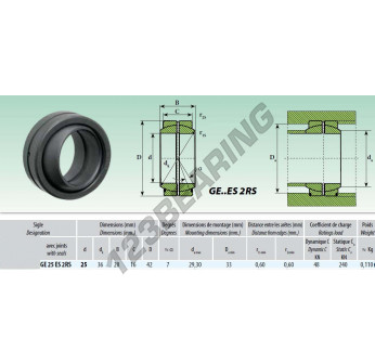 GE25DO-2RS - 25x42x20 mm