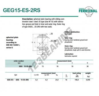 GEG15-ES-2RS-DURBAL - 15x30x10 mm