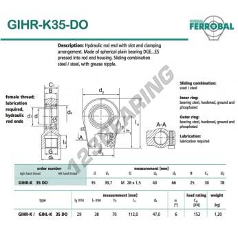 GIHR-K35-DO-DURBAL - 35x78x30 mm