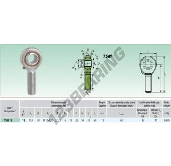 TSM012 - M12x12 mm